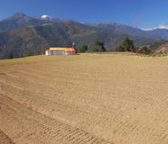 Bauernhoflandschaft. Lizenzfreies Stockfoto