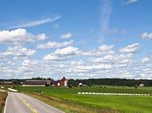 Bauernhoflandschaft Lizenzfreie Stockfotografie