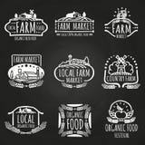 Bauernhofmarkt und Lebensmittelfestivalhand gezeichnet vektor abbildung
