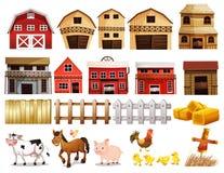 Bauernhofsatz Lizenzfreie Stockfotos