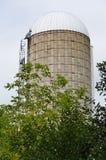 Bauernhofsilo, Remus, Michigan stockfotografie
