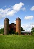 Bauernhofsilos Lizenzfreie Stockbilder