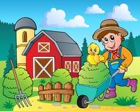 Bauernhofthemabild 7 Lizenzfreies Stockfoto