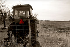 Bauernhoftraktor Stockfoto