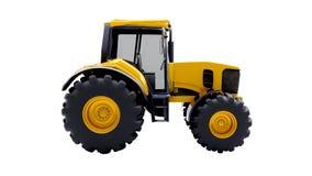 Bauernhoftraktor getrennt Stockfotos