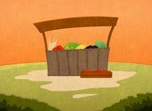 Bauernhofwarenmarkt Lizenzfreie Stockbilder