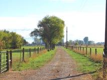 Bauernhofweg Stockfoto