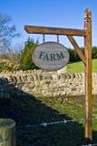 Bauernhofzeichen Lizenzfreies Stockbild