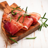 Bauernspeck. Farm house bacon Stock Photography