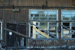 Baufälliges Gebäude, Ruinen Stockbild