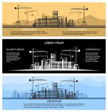 Baugebäudefahnen-Vektorsatz Lizenzfreies Stockfoto