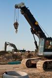 Baugeräte an einer Baustelle Lizenzfreies Stockbild