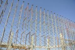 Baugerüst aufgerichtet, um Verschalung zu stützen Stockbilder