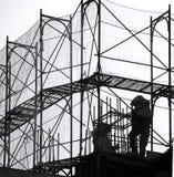 Baugerüst an einer Baustelle Lizenzfreies Stockfoto