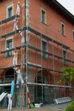 Baugerüstversammlung lizenzfreie stockfotos