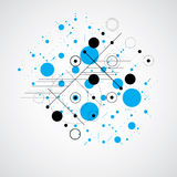 Bauhaus art composition, decorative modular blue vector wallpape Stock Images