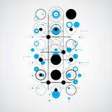 Bauhaus art composition, decorative modular blue vector wallpape Stock Photos
