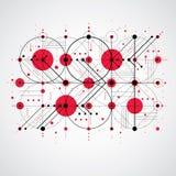 Bauhaus art composition, decorative modular red vector wallpaper Royalty Free Stock Images