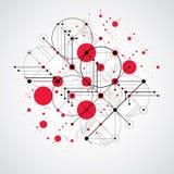 Bauhaus art composition, decorative modular red vector wallpaper Royalty Free Stock Photos