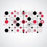 Bauhaus art composition, decorative modular red vector wallpaper Royalty Free Stock Image