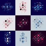 Bauhaus art composition. Set of decorative modular vector wallpa Stock Images