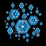 Bauhaus art, decorative modular vector blue wallpaper made using Stock Images