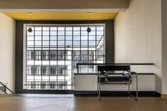Bauhaus art school iconic building in Dessau, Germany. DESSAU, GERMANY - MARCH 30, 2018: The Bauhaus art school iconic building designed by architect Walter stock image