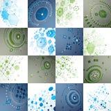 Bauhaus art, set of modular vector wallpapers made using circles Stock Photos