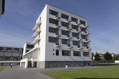 Bauhaus with balconies Royalty Free Stock Photo