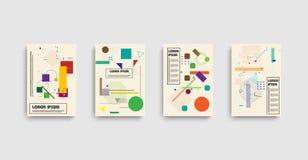 Bauhaus dans le style moderne sur le fond tramé Fond de bannière de conception de vecteur illustration stock