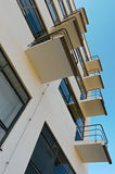 Bauhaus Dessau, Balkone Stockbilder