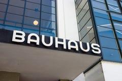 Bauhaus Dessau writing Stock Image