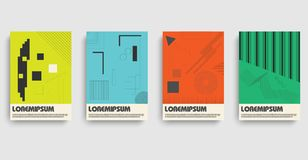 Bauhaus. Flat bauhaus for medical design. Abstract geometric pattern. Icon set. Abstract vector layout background set. Bauhaus pattern vector illustration