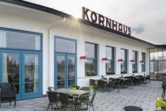 Bauhaus Kornhaus building in Dessau, Germany Stock Photo