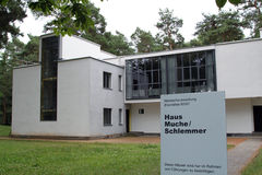 Bauhaus Masters Houses in Dessau Stock Image