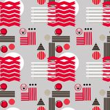 Bauhaus pattern3. Geometric simple seamless pattern.Constructivism art style.Russian constructivism. Vector colorful texture . Bauhaus abstract textile vector illustration