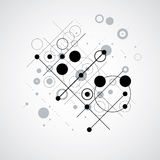 Bauhaus retro wallpaper, art vector black and white background m Royalty Free Stock Images