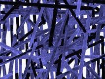 Bauhaus Seamless Pattern. Watercolor Geometric Indigo, Blue Lines Design. Art Organic Geo Background. Big Artistic Minimal Print. Trendy Fun Abstract Paint royalty free illustration
