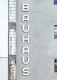 Bauhaus Signage on Gray Concrete Building Royalty Free Stock Photos