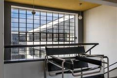Bauhaus szkoły artystycznej ikonowy budynek w Dessau, Niemcy obraz royalty free