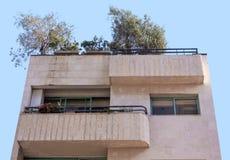 Bauhausgebäudefassade Stockfoto