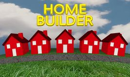 Bauherr Construction New Houses stock abbildung