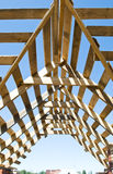 Bauholz-arbeiten Sie Stockfoto