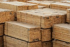 Bauholz auf Lager Stockbilder