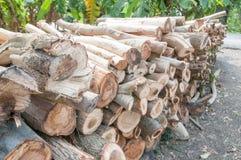 Bauholz für Brennholz Lizenzfreies Stockbild