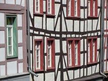Bauholz gestaltet, Detail in Deutschland unterbringend stockfoto