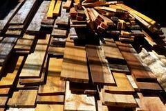 Bauholz im Lager Stockbild