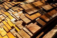 Bauholz im Lager Stockfotos