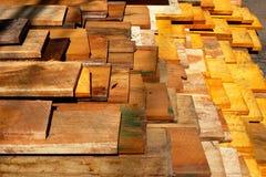 Bauholz im Lager Stockbilder