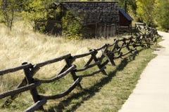 Bauholz-Zaun Stockbilder